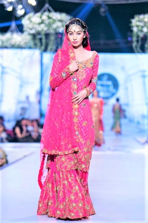 Pakistani Wedding Bridal embroidery Sharara Mehndi Dresses Styles