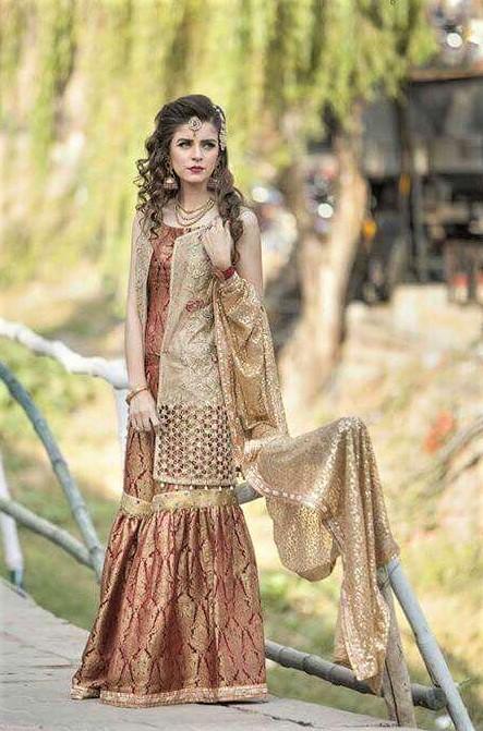 sharara pakistani wedding mehndi dress
