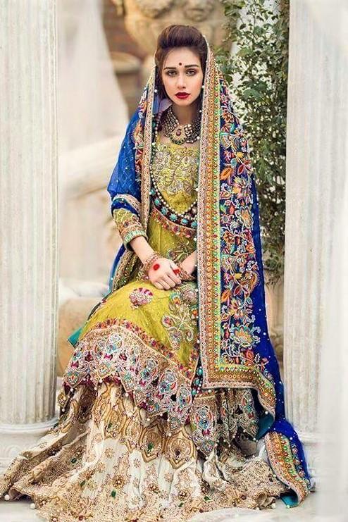 Anarkali Bridal Mehndi Dresses Designs