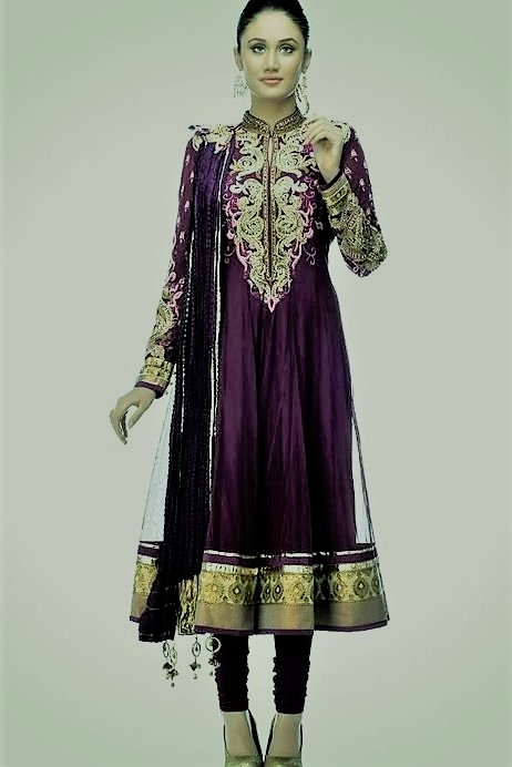 latest angrakha style embroidery suits