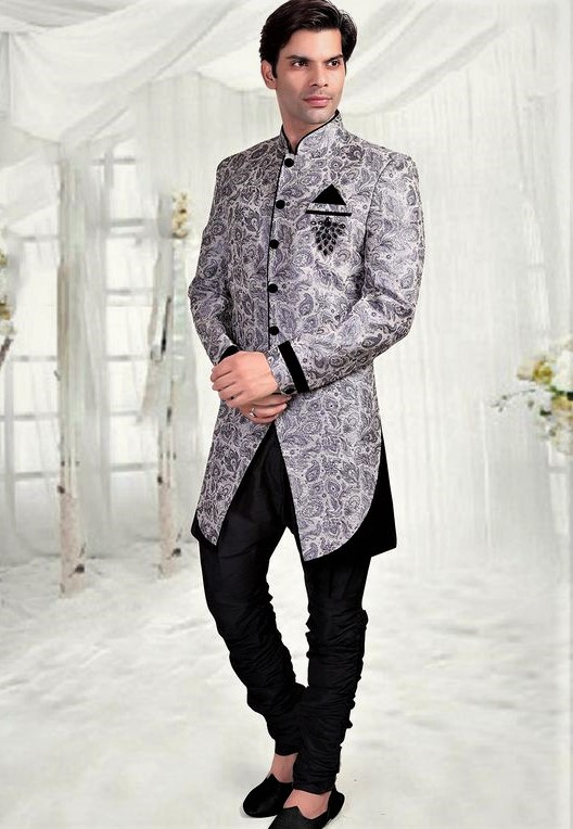Angrakha Style Kurta Design Mehndi Dresses for male