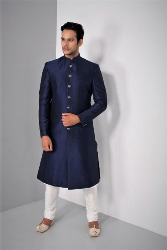 bell bottom sherwani Angrakha Style Kurta Design Mehndi Dresses