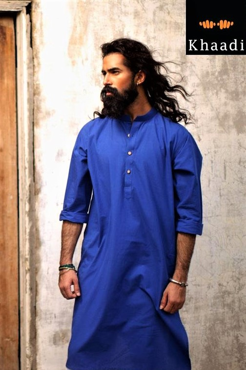 blue kurta Mehndi Dresses for Boys
