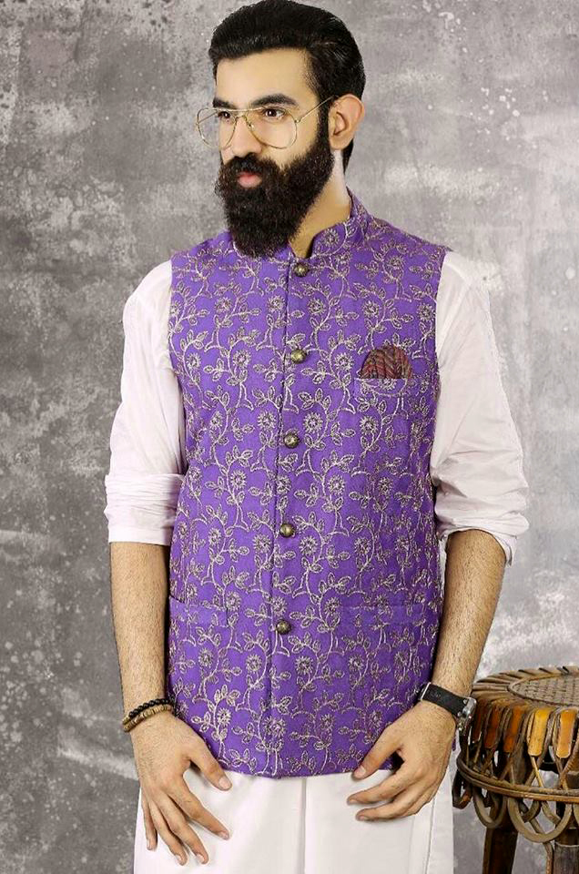 Golden Zari Mens New Kurta Waistcoats Mehndi Dresses