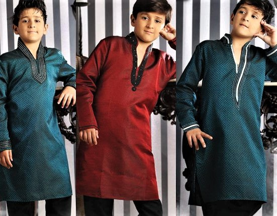 Kurta style Mehndi Dresses for Boys