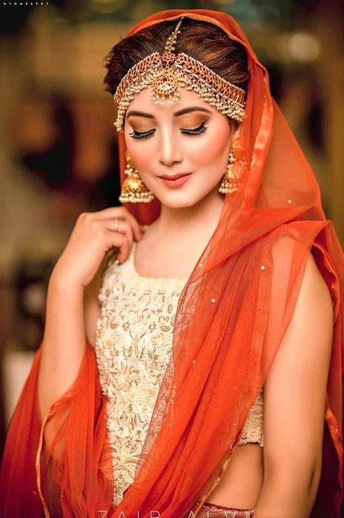Asian Bridal Mehndi Dresses and Makeup Styles
