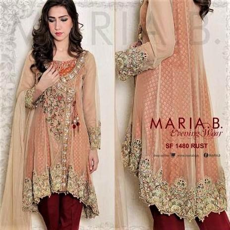 Latest Beautiful Mehndi wear Dresses by Maria B