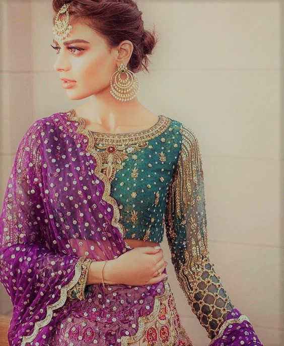 Latest Beautiful Mehndi Dresses collection by Maria B