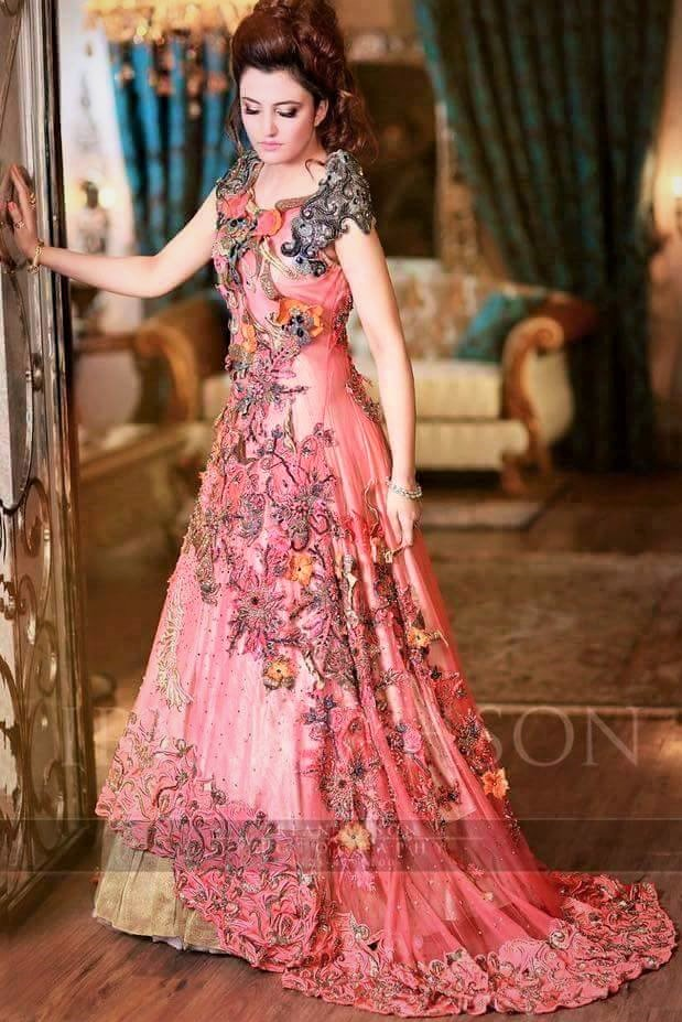 pakistani bridal mehndi dress designs