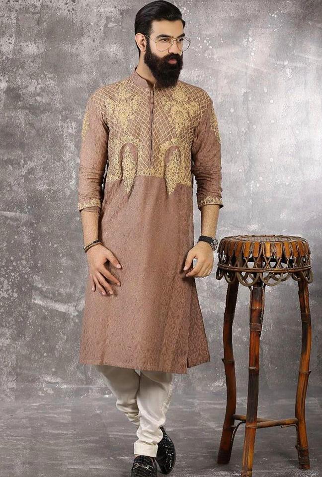 full gala karhai Mens New Kurta Waistcoats Mehndi Dresses