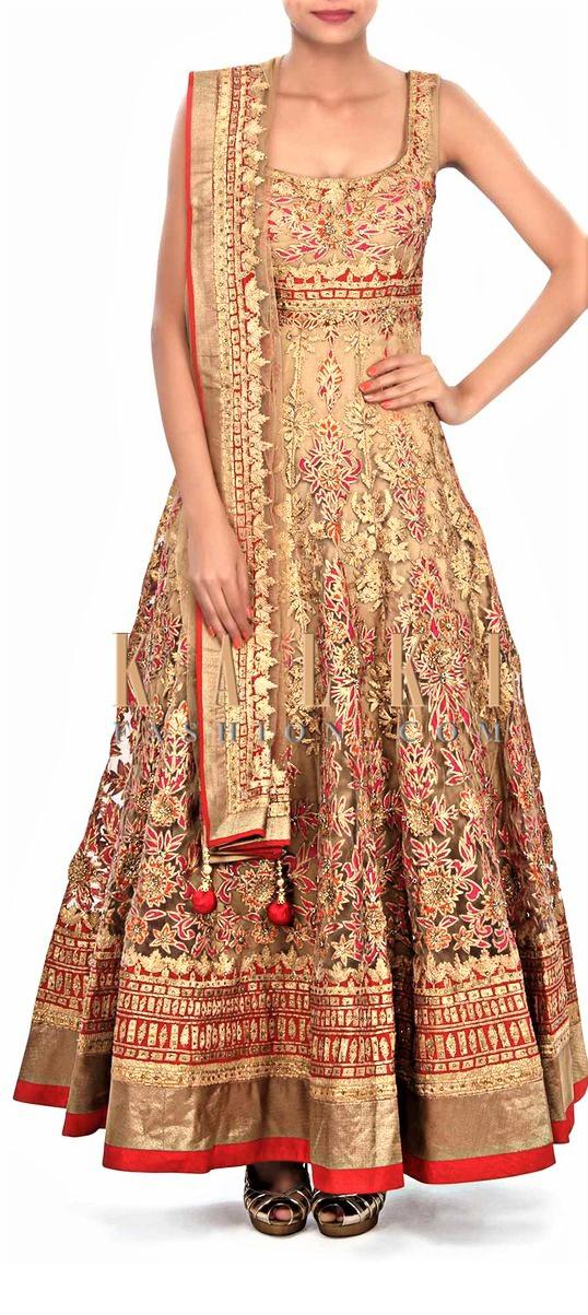 Heavy embroidery Angrakha frock Designs Mehndi Dresses