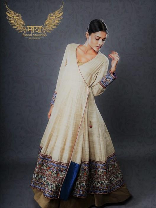 Indian lacha angrakha style mehndi dress