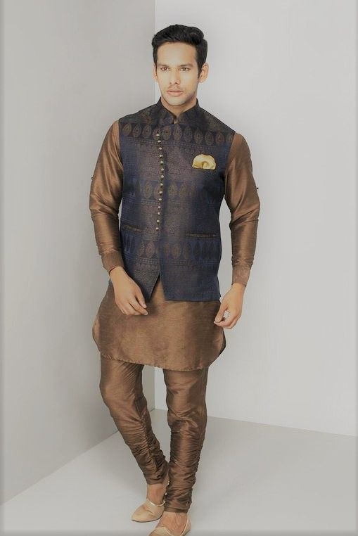 Angrakha Style Kurta Design Mehndi Dresses For Men