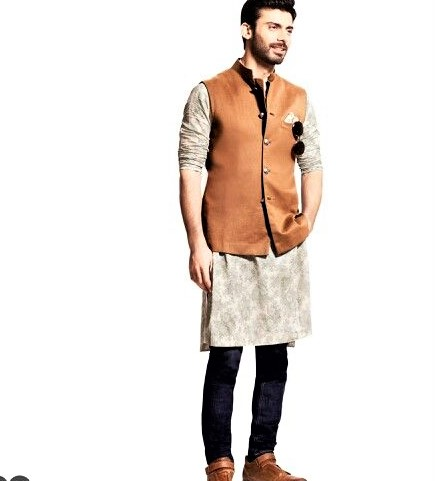 Kurta with jeans Mehndi Dresses for Boys
