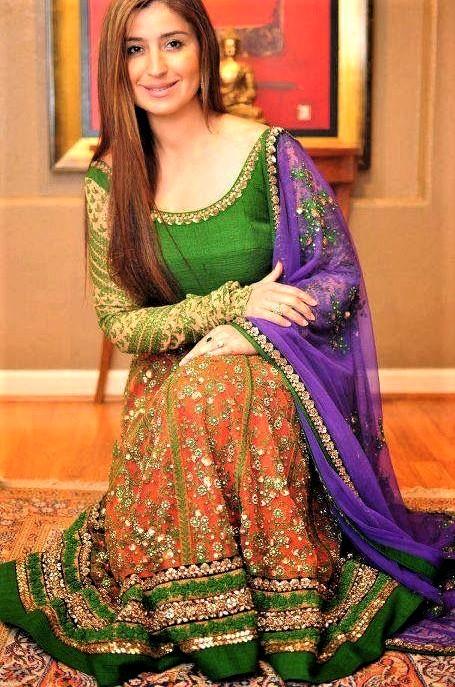 Latest best Anarkali Frocks Mehndi Dresses Designs