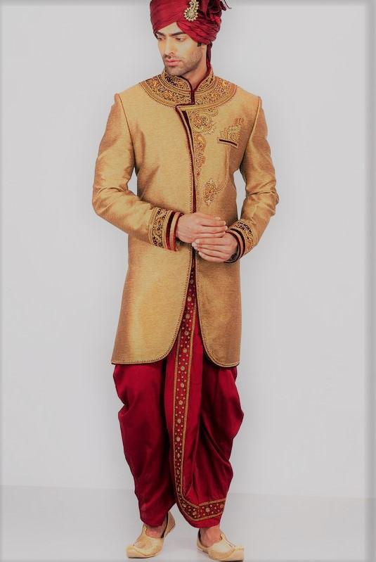 Lungi style Angrakha Style Kurta Design Mehndi Dresses