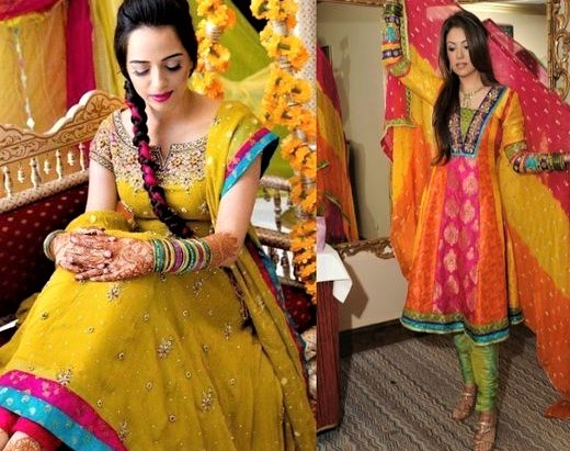 Mayon Mehndi dresses for Girls