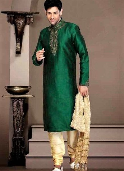Embroidery kurta Mehndi Dresses for Boys