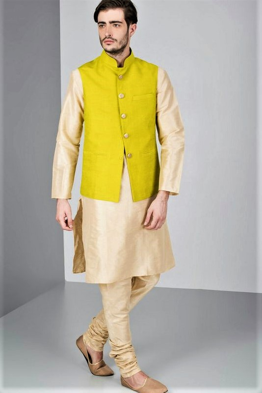 Mehndi Mens Clothes : Angrakha style kurta design mehndi dresses for men
