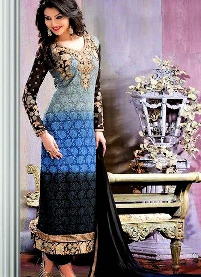 Multi color Mehndi dresses for Girls