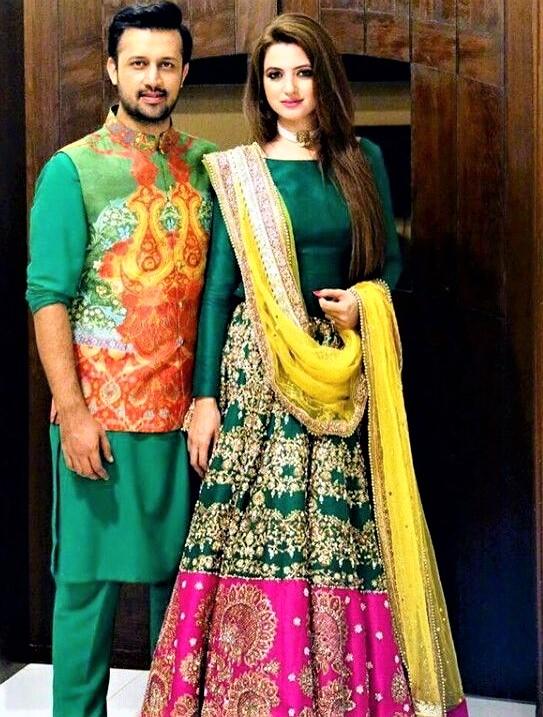 Anarkali Bridal Mehndi Dresses new style