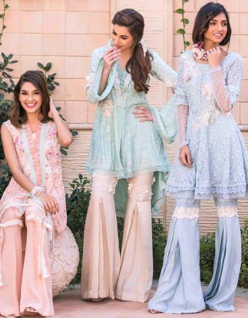 Phink sharara choli Pakistani Bridal Mehndi Dresses Styles
