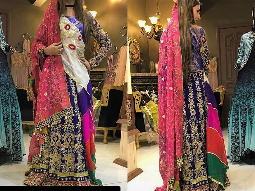 pakistani bridal mehndi dresses for mayoon function