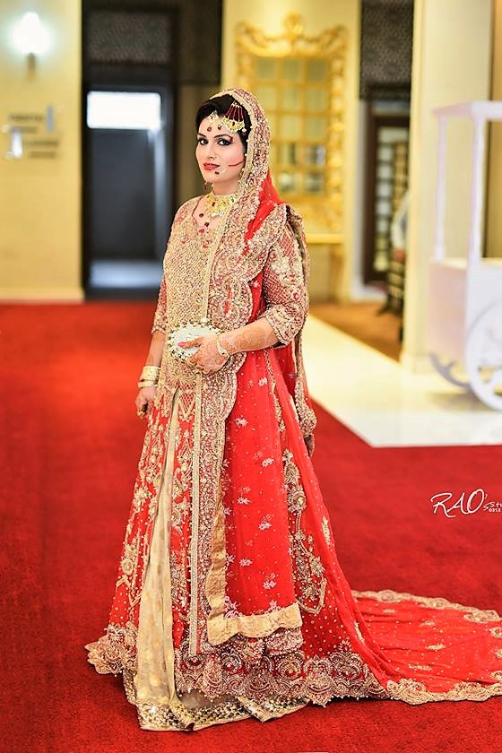 Shafoon Embroidery Pakistani bridal mehndi dress
