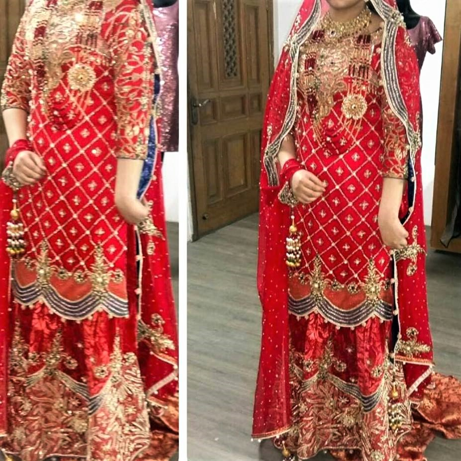 Gota Kinari Pakistani Bridal Mehndi Dresses Designs