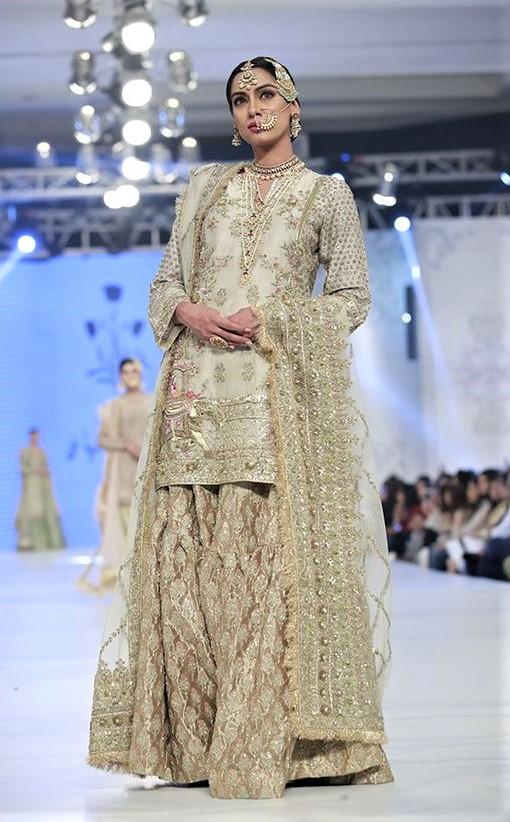 Fancy With Long Shirt Sharara Mehndi Dresses Styles