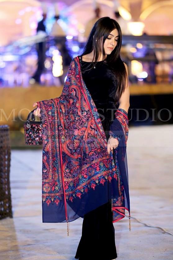 Velvet style Pakistani Bridal Sisters Mehndi Dresses