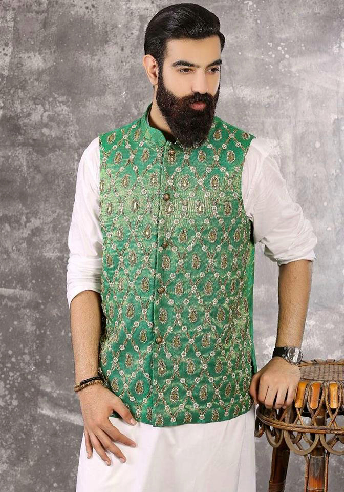 White Mehndi Outfits : Mehndi dresses mens new kurta waistcoats designs