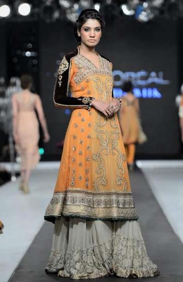 Asifa and Nabeel designer Mehndi Dresses