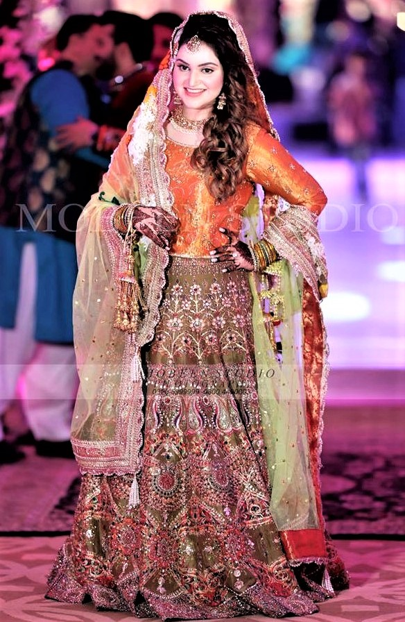 Multi color mehndi dress collection