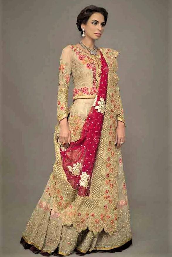 deepak parwani mehndi dresses of pakistani designers