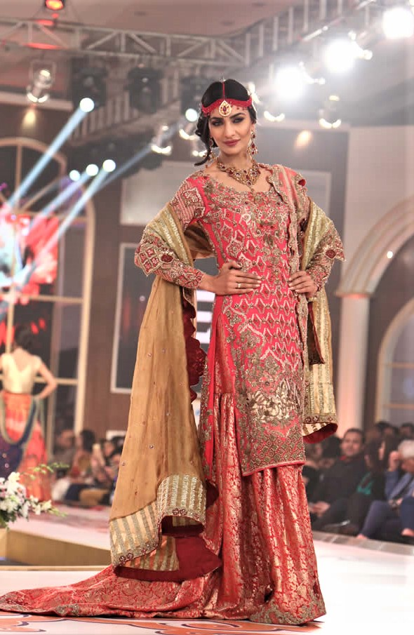 Erum Khan designer Pakistani Sharara Mehndi Dress
