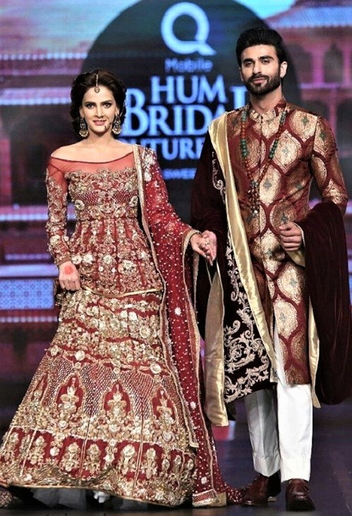 erum khan mehndi dresses bridal couture week