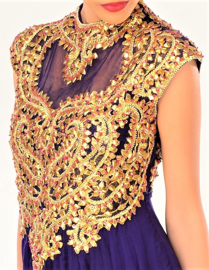 Gota Work blouses design Pakistani Mehndi Dresses