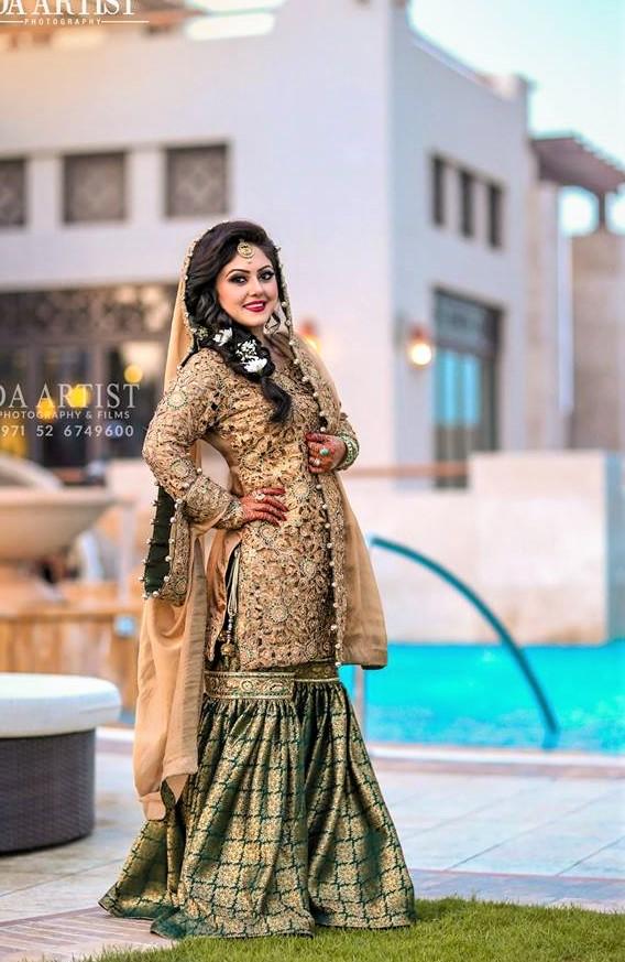 Long Lehnga Choli Sharara silk Mehndi Dresses