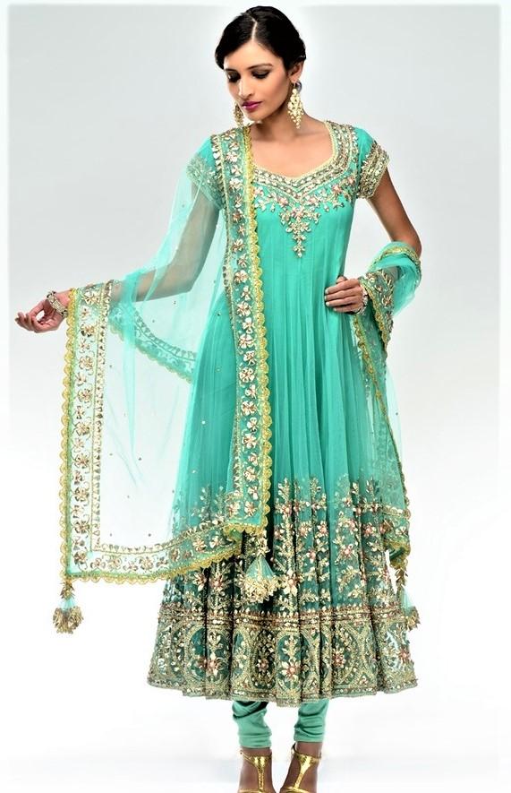 Shafoon Gota Work Pakistani Mehndi Dresses