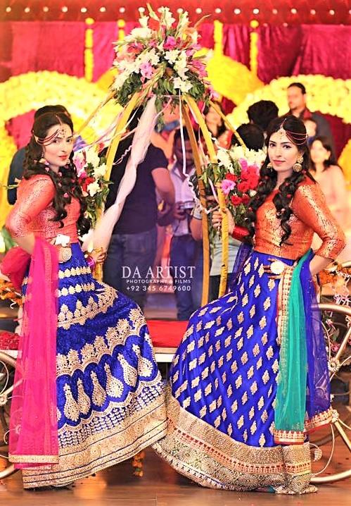 Best purple Lehnga Choli style Mehndi Dresses