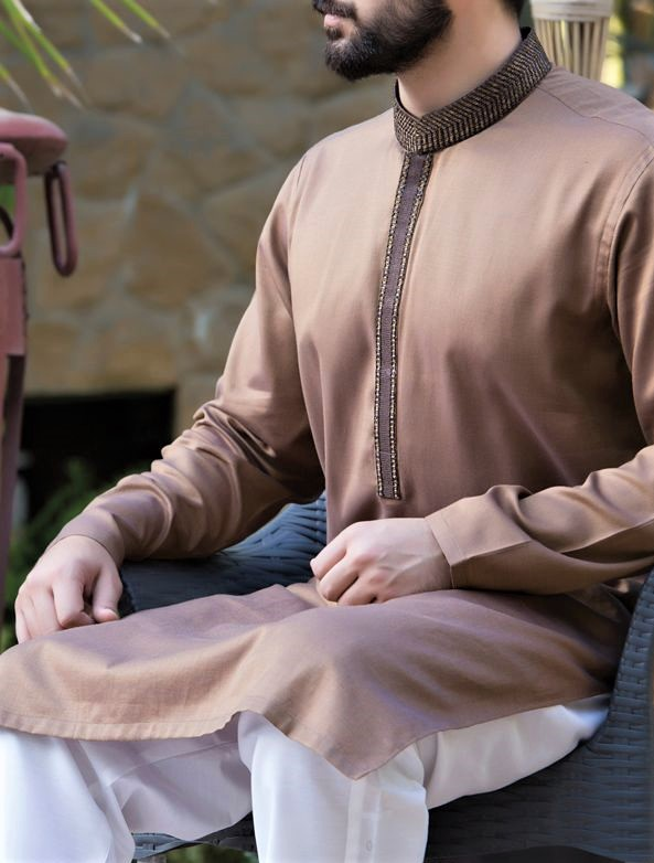 Simple kurta boys Junaid Jamshed Mehndi Dresses