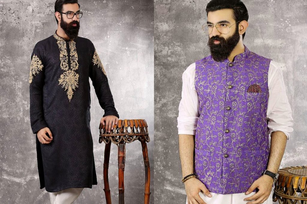 Mehndi Dresses: Mens New Kurta Waistcoats Designs