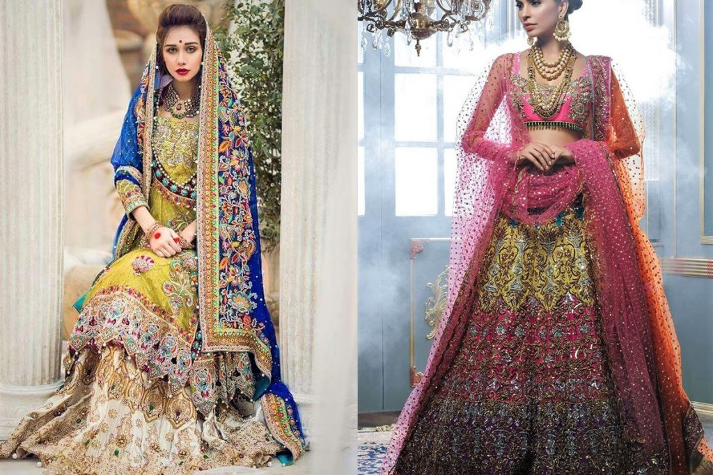 Brides Wedding Mehndi Dresses Pakistani Designers 2018-2019