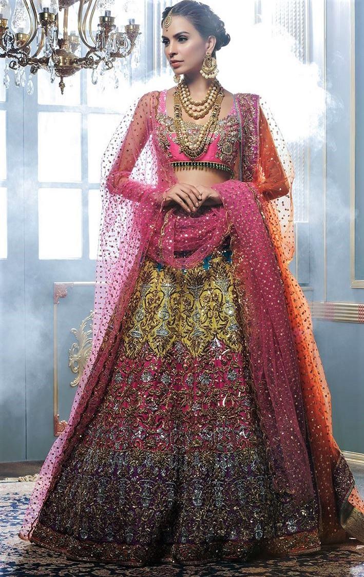 Nomi ansari marjan mehndi dresses collection pakistani designers