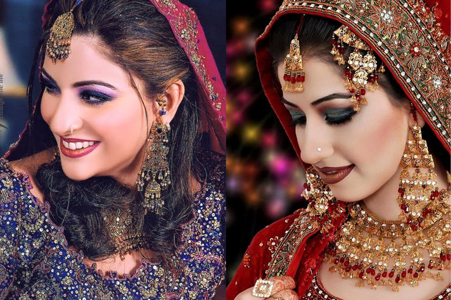 Best Bridal Makeup Styles and Mehndi Dresses