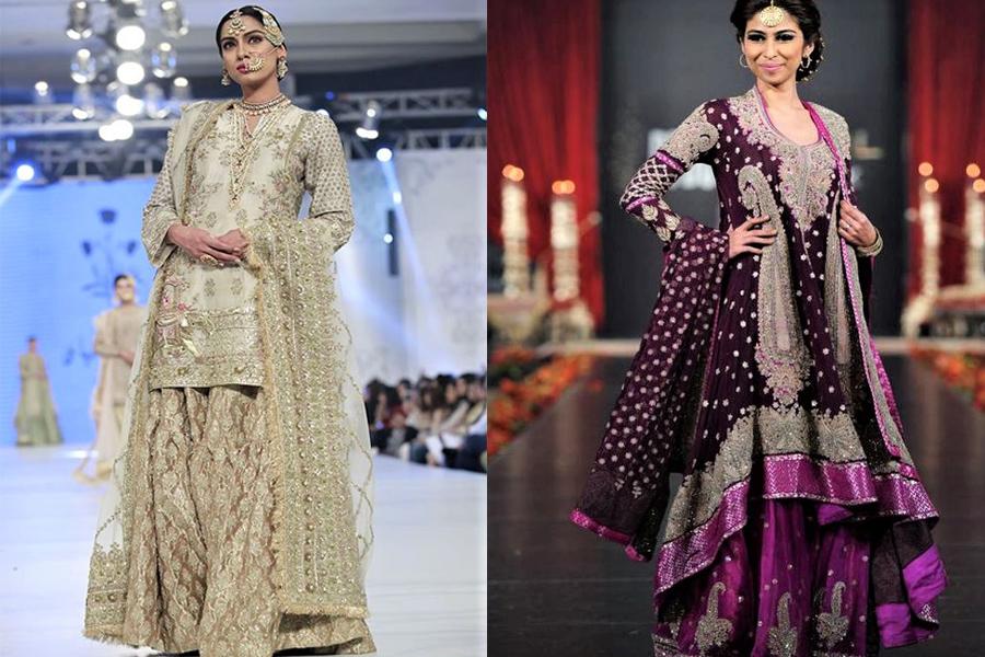 Unique Pakistani Bridal Sharara Mehndi Dresses 2021
