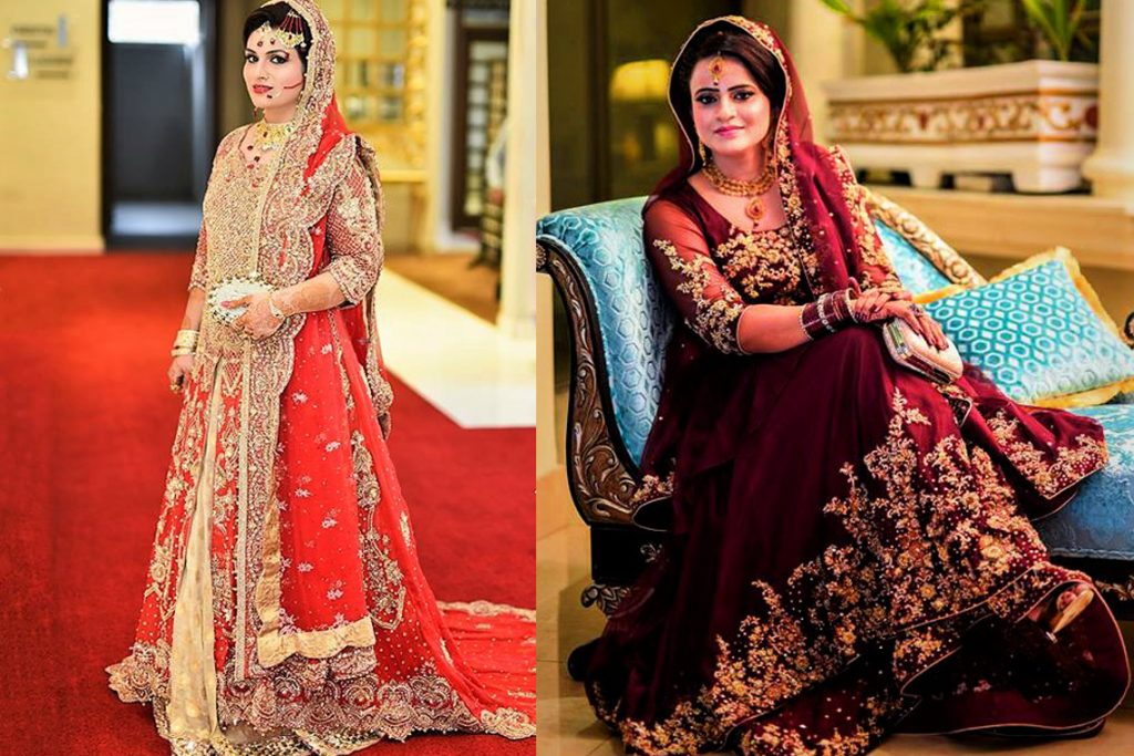 Latest Pakistani Bridal Mehndi Dresses Designs Collection