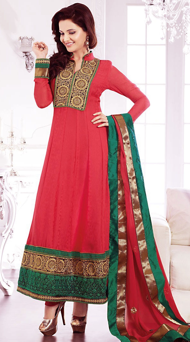 Anarkalil Salwar Kameez for mehdni