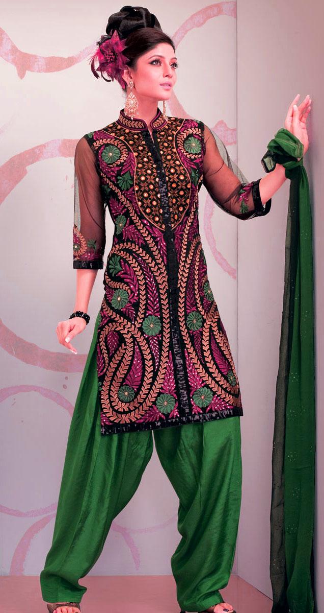 Mehndi Dresses Simple Salwar Kameez bandhani style